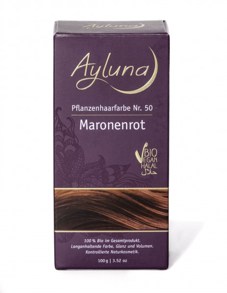 Ayluna Pflanzen Haarfarbe Maronenrot 100 g