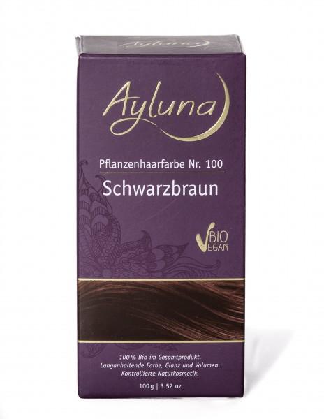 Ayluna Pflanzen Haarfarbe schwarzbraun 100 g