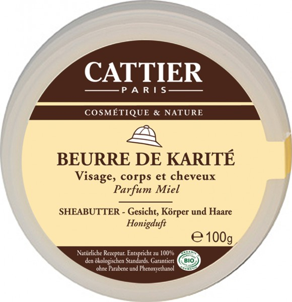 CATTIER Paris Sheabutter mit Honigduft 100 g