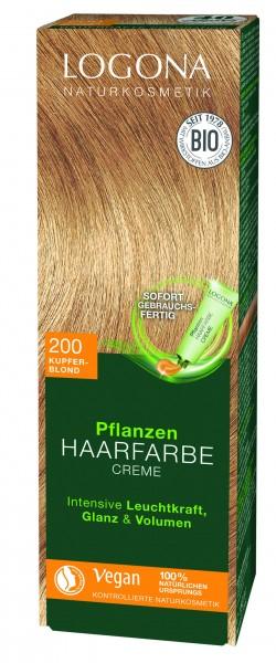 LOGONA Pflanzen Haarfarbe Creme kupferblond