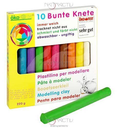 ökoNORM Bunte Knete 10 Farben