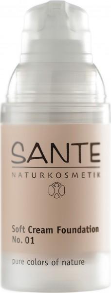SANTE Soft Creme Foundation porcellan No.01 30 ml