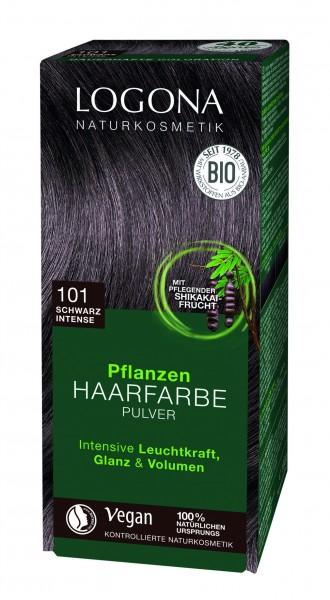 LOGONA Pflanzen Haarfarbe Schwarzintens 100 g