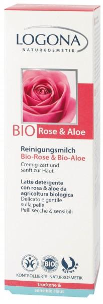 LOGONA Reinigungsmilch Bio-Rose 125 ml