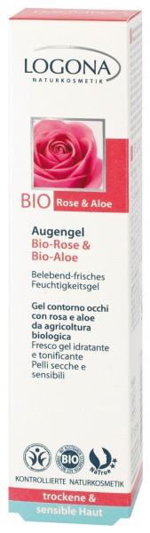 LOGONA Augengel Bio-Rose Bio-Aloe 15 ml