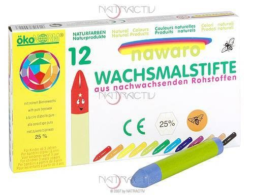 ökoNORM Wachsmalstifte 12 Farben