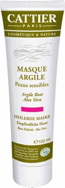 CATTIER Paris Rosa Heilerde Maske für empfindliche Haut 100 ml