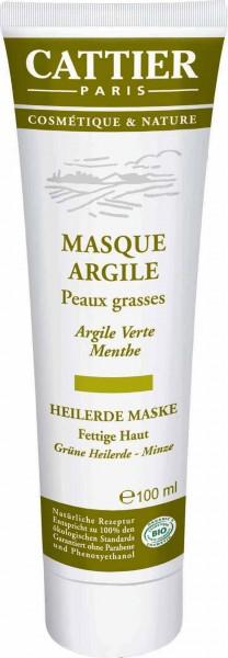 CATTIER Paris Grüne Heilerde Maske für fettige Haut 100 ml